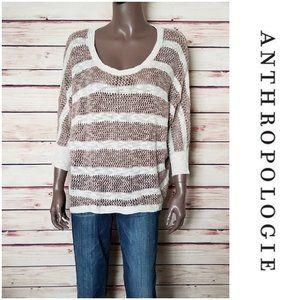 ANTHROPOLOGIE-Shrinking Violet Crochet Sweater.